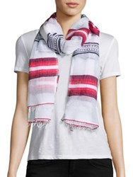 Lemlem Enku Striped Scarf Red Blue