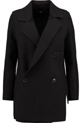 Line Ingrid Wool Blend Coat Black