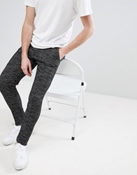 Native Youth Textured Slim Fit Joggers Black White