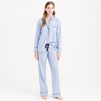 J.Crew End On End Pajama Set In Swiss Dot