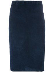 Stouls Gilda Pencil Skirt Blue