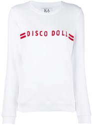Zoe Karssen Slogan Front Sweater White