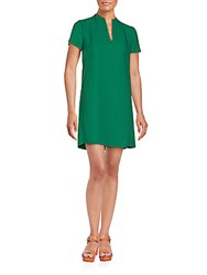 1.State V Neck Shift Dress Dark Evergreen