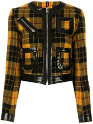 Yang Li Check Pattern Fitted Jacket 60