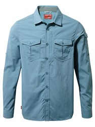 Craghoppers Men's Nosilife Advanced Long Sleeved Shirt Indigo