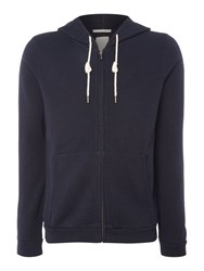 Scotch And Soda Men's Home Alone Zip Thro Hooded Sweat Navy