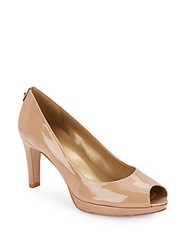 Stuart Weitzman Patent Leather Peep Toe Pumps Adoani