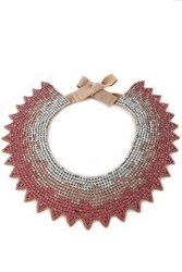 Valentino Crystal And Satin Necklace Pink