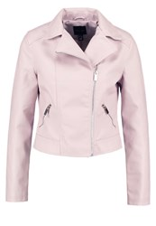New Look Faux Leather Jacket Light Pink