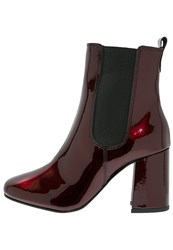 Pieces Psantonia Boots High Risk Red Dark Red