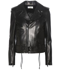 Saint Laurent Signature L17 Leather Biker Jacket Black