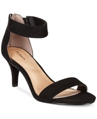 Style And Co. Paycee Two Piece Dress Sandals Women's Shoes Black