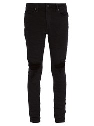 Neuw Rebel Distressed Skinny Jeans Black