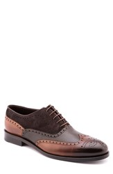 Jared Lang Men's Wingtip Brown