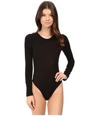 Only Hearts Club Featherweight Rib Long Sleeve Bodysuit Black Women's Jumpsuit And Rompers One Piece