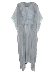 Raquel Allegra Rainwash Tie Dye Silk Chiffon Dress
