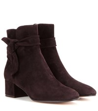 Gianvito Rossi Leslie Mid Suede Ankle Boots Brown