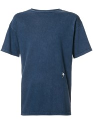 The Elder Statesman Palm Tree Detail T Shirt Blue