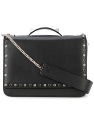 Salar Studded Tote Women Calf Leather Calf Suede Metal One Size Black