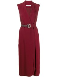 Victoria Beckham Belted Wrap Dress 60