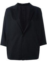 Y's Three Quarters Boxy Blazer Black