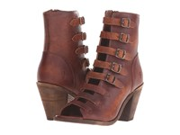 Frye Izzy Belted Short Cognac Washed Oiled Vintage Women's Dress Boots Brown