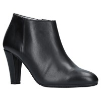 Carvela Comfort Ross High Cone Ankle Boots Black Leather