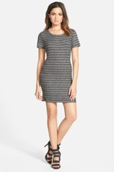 Leith Stripe Knit Dress Juniors Gray