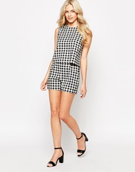Oasis Gingham Shorts Blackivory