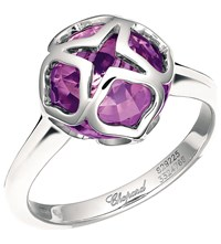 Chopard Imperiale 18Ct White Gold And Amethyst Ring