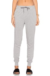 Alexander Wang Enzyme Washed French Terry Sweatpant Gray