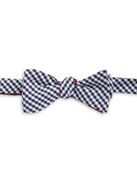 Brooks Brothers Mixed Pattern Cotton Bow Tie Blue Red