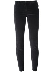 Woolrich Velvet Effect Skinny Trousers Grey