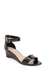 Women's Bp. 'Roxie' Wedge Sandal Black Patent Faux Leather