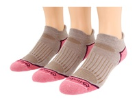 Fox River Strive Ankle 3 Pair Pack Trail Women's Low Cut Socks Shoes Brown