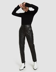Just Female Robin Leather Pants In Black