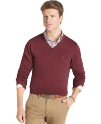 Izod Big And Tall Sweater Fine Gauge V Neck Sweater Chocolate Truffle