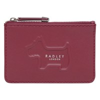 Radley Shadow Leather Small Zip Top Coin Purse Red