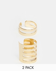 Weekday Straight Earcuff Gold