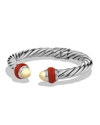 Cable Classics Bracelet With Gold Domes And Carnelian David Yurman