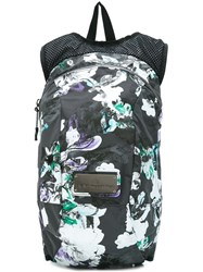 Adidas By Stella Mccartney Floral Print Backpack Black