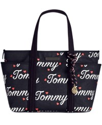 Tommy Hilfiger Dariana Tote Navy Fiery Red