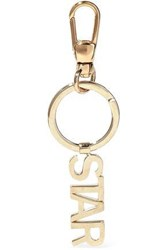 Red V Gold Tone Keychain Gold