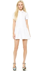 Re Named Drop Waist Shirtdress Off White