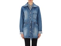 Opening Ceremony Women's Denim Trench Coat Blue