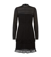 Set Tiered Lace Dress Female Black