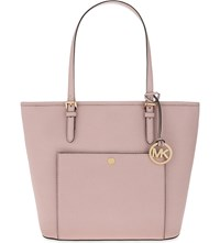 Michael Michael Kors Jet Set Snap Pocket Saffiano Leather Tote Blossom