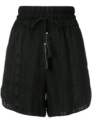 Zeus Dione Paxi Elasticated Waistband Shorts Black