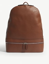 Eleventy Leather Backpack Brown