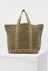 Vanessa Bruno Linen Tote With Eyelets